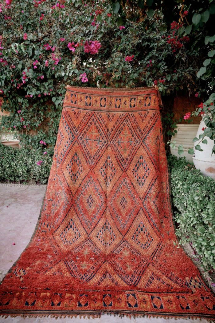 Orange Beni Mguild Rug