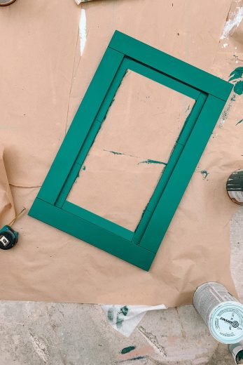 Green Painted IKEA Drawer Fronts