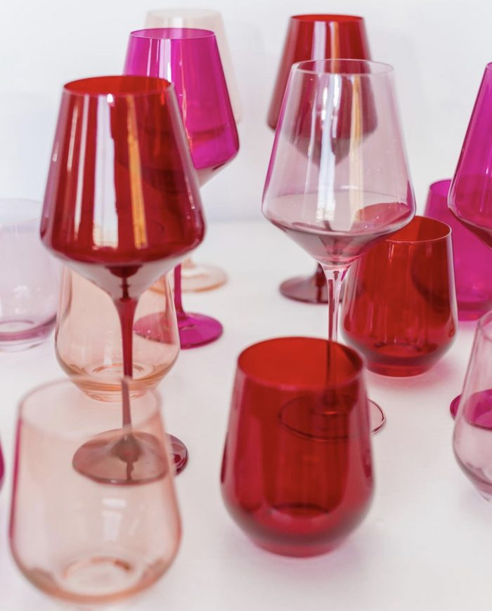Colorful Glassware for Valentines Day