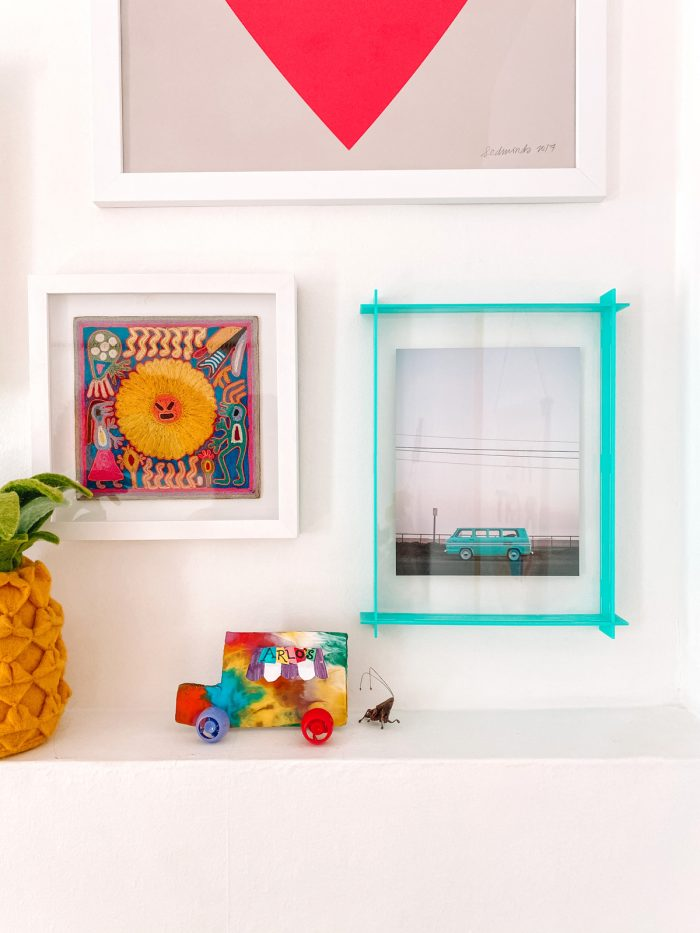 Neon Acrylic Floating Frame