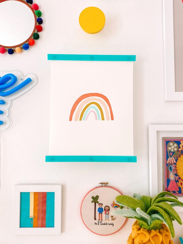 Rainbow Art Print with Acrylic Poster Hanger