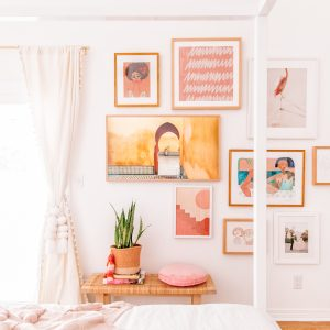 Pink Gallery Wall