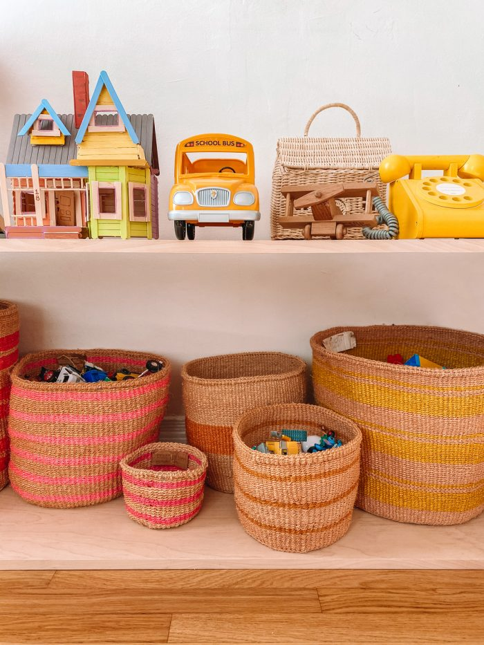Wooden Toy Shelves