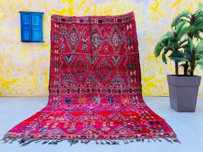 Bold Red Vintage Moroccan Rug