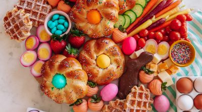 Colorful Easter Brunch Board