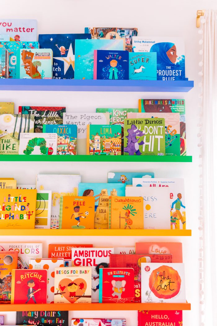 IKEA Hack: DIY Rainbow Bookshelves
