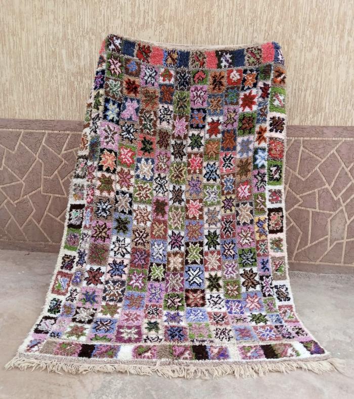Multicolor Vintage Moroccan Rug