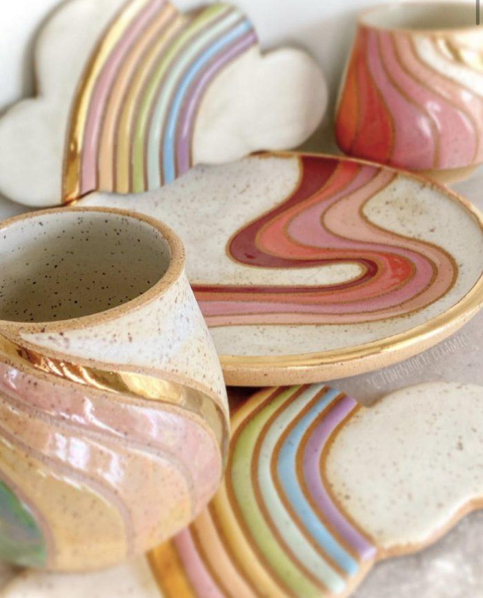 Pastel Christine Tenenholtz Ceramics