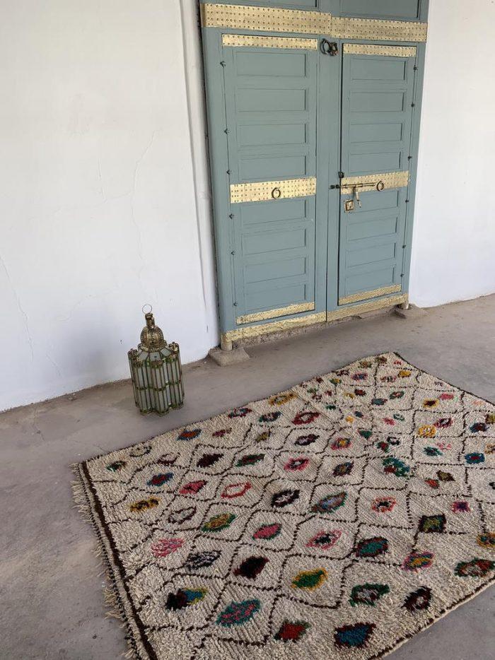 Pops of Color Vintage Moroccan Ailal Rug