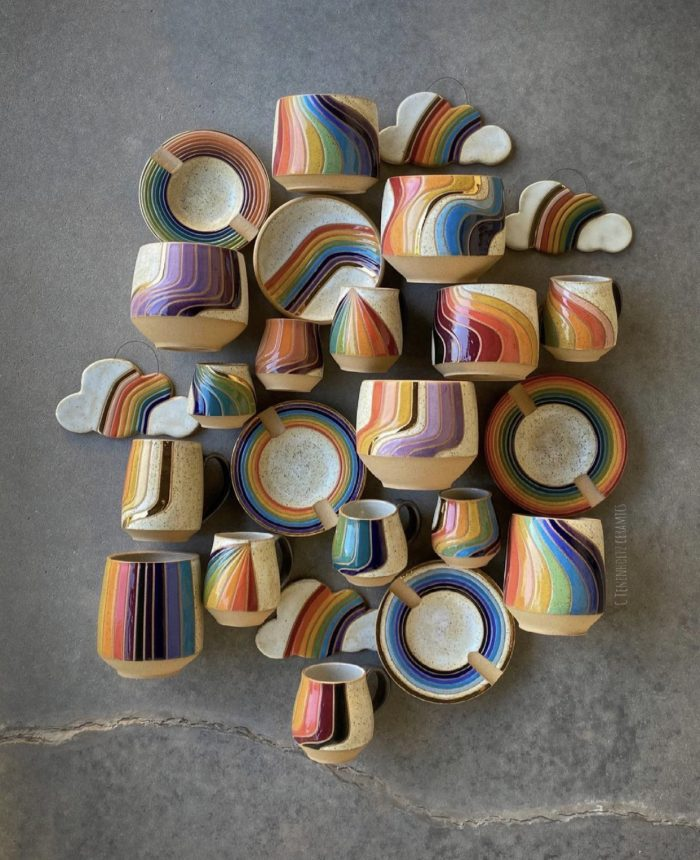 Rainbow Ceramics Designed by Christine Tenenholtz