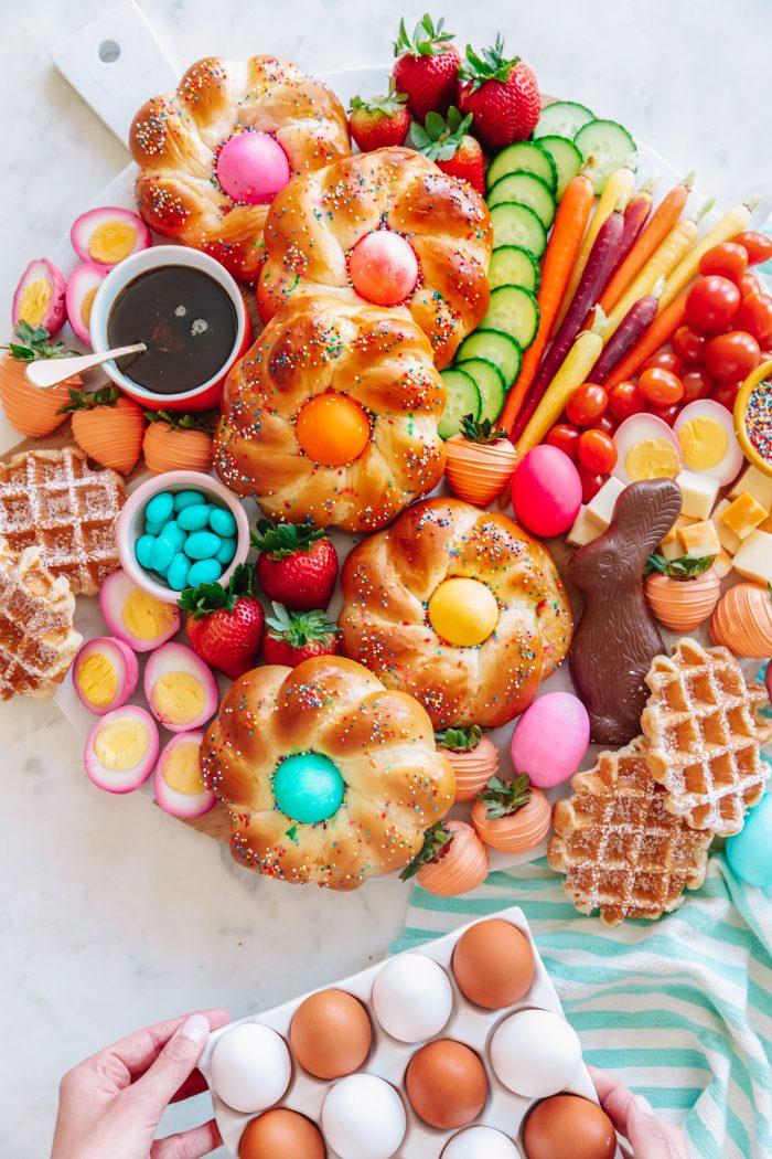 Colorful Easter Brunch Board