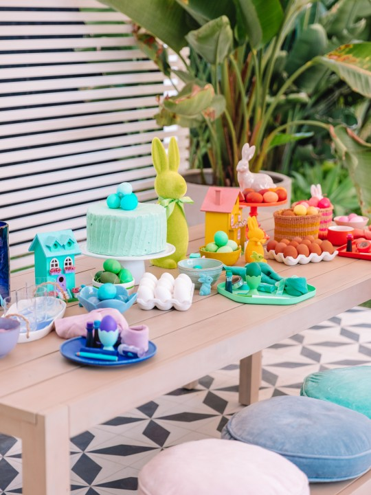 Rainbow Easter Egg Decorating Party