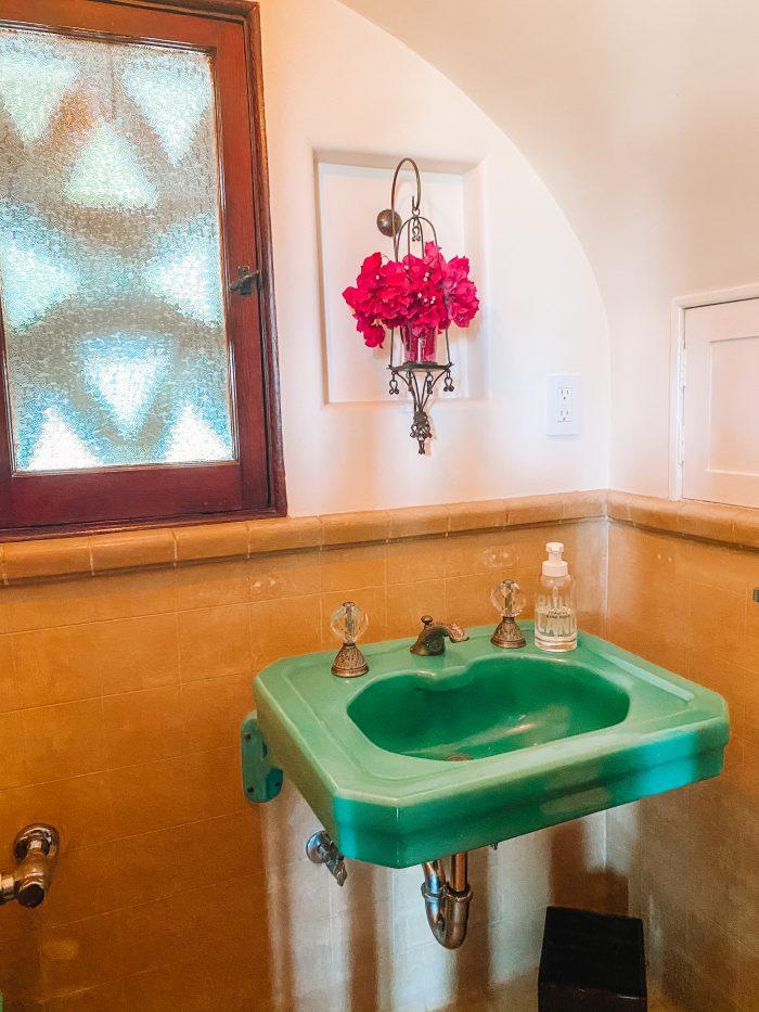 Colorful 1920s Spanish Bathroom