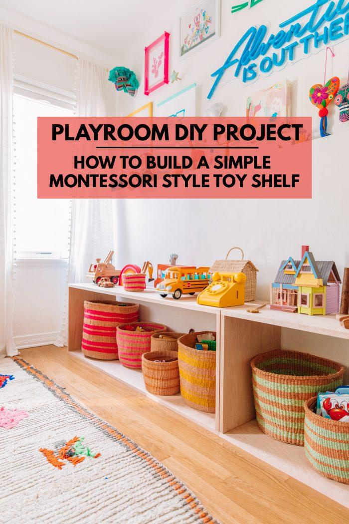 How To Build A Montessori Toy Shelf