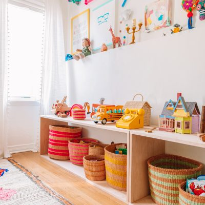 DIY Simple Wood Toy Shelf (Montessori Inspired)