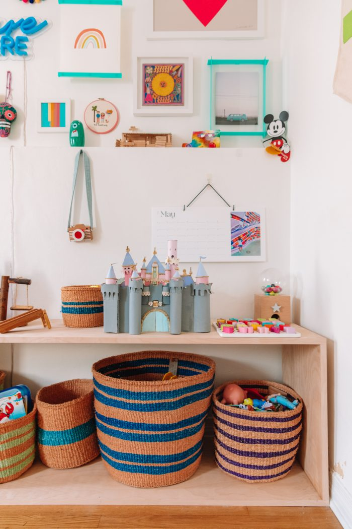 DIY Wood Toy Shelf