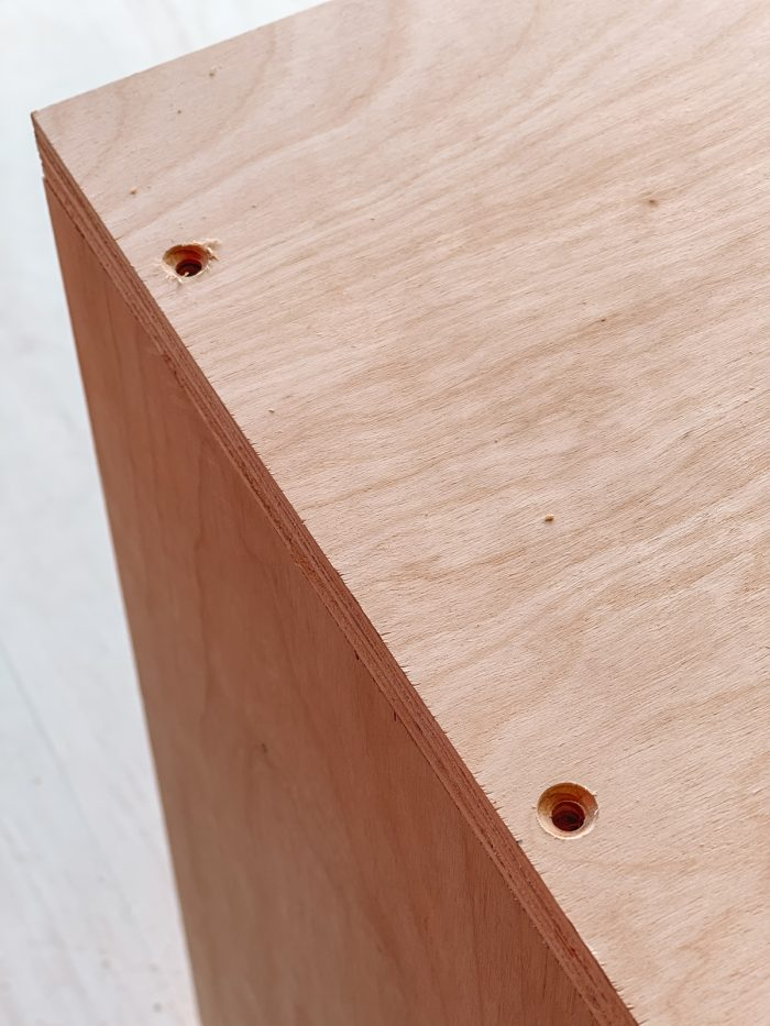 Drill Holes DIY Montessori Wood Shelf