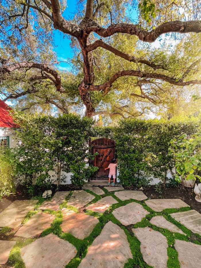 English Storybook House Garden in Los Angeles