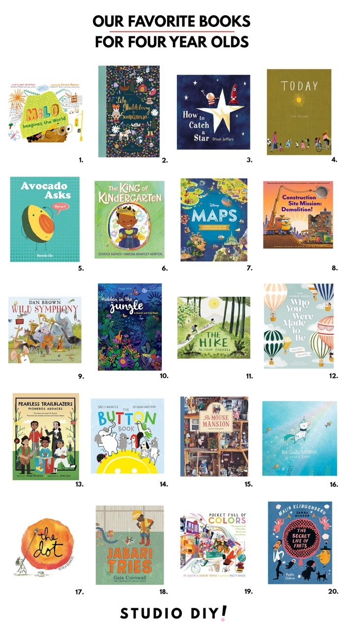 Favorite Books for 4 Year Olds