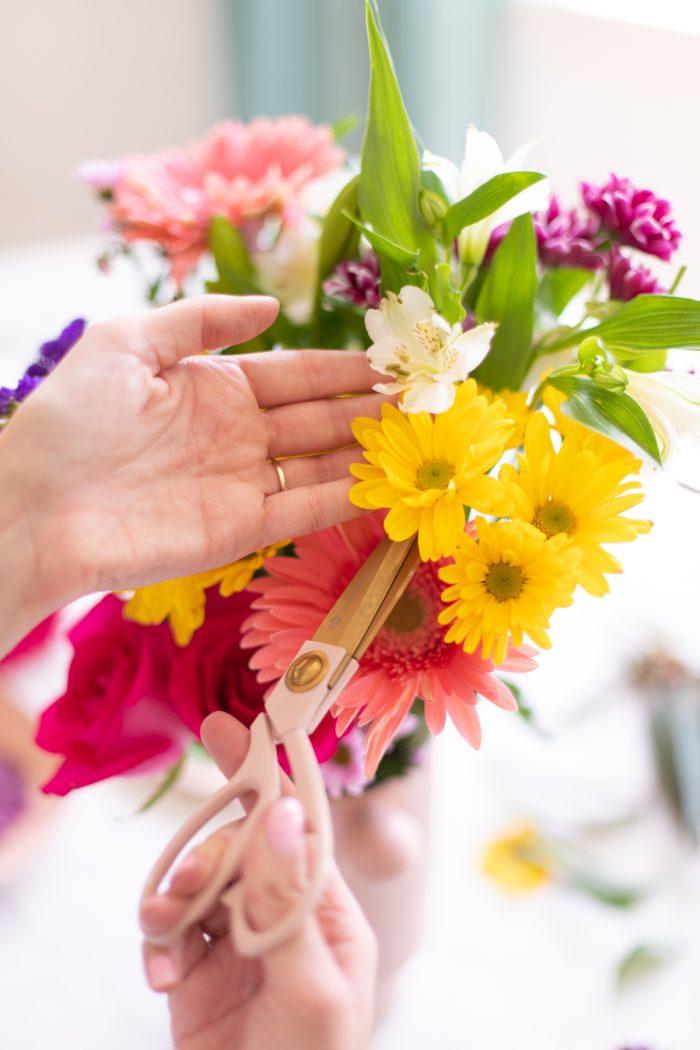 Cutting Flowers to Press Them
