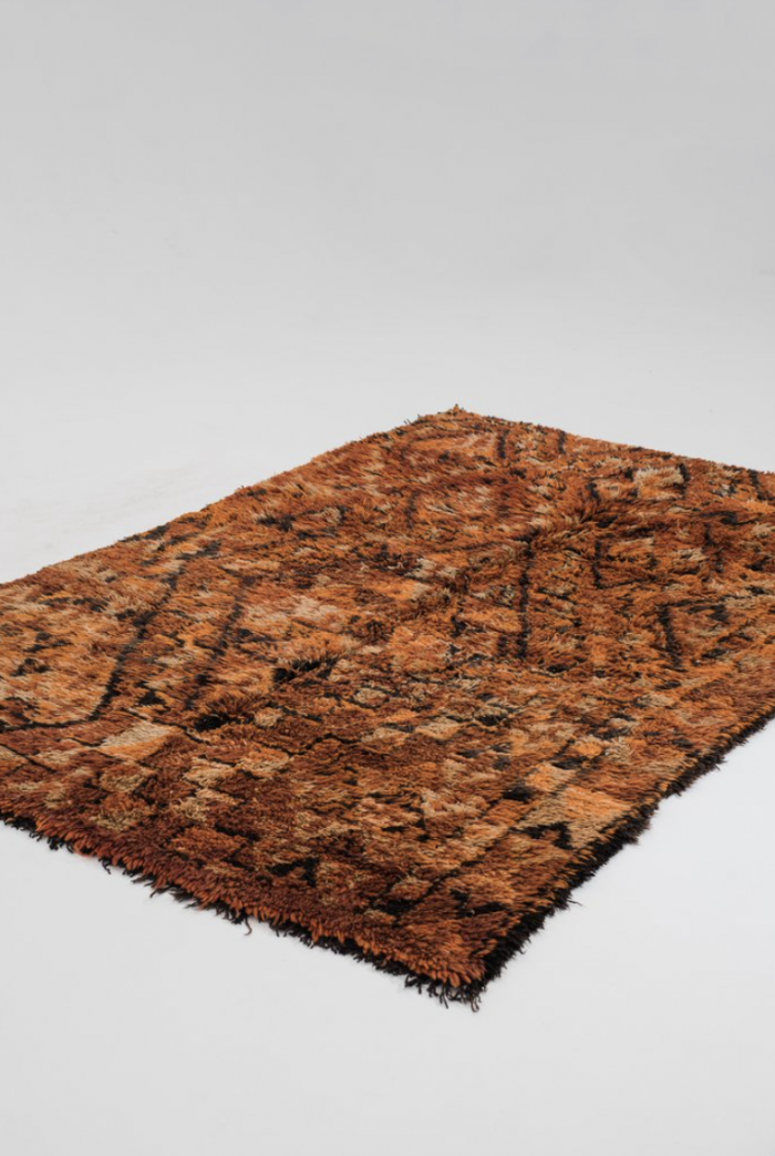 Rust & Brown Moroccan Rug