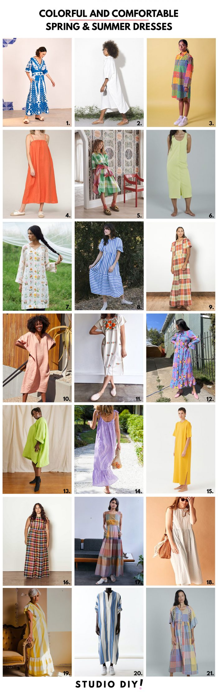 Colorful & Comfortable Spring and Summer Dresses