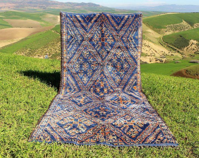 Blue Vintage Moroccan Rug