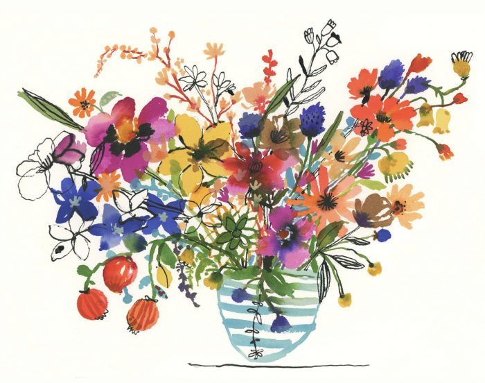 Carolyn Gavin Floral Vase Art