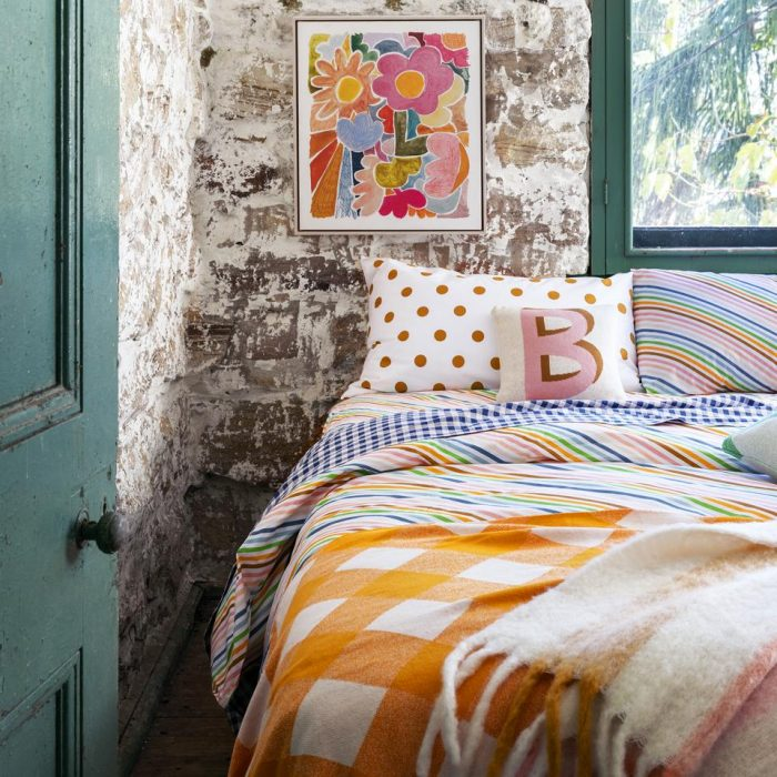 Castle and Things Rainbow Stripe Bedding