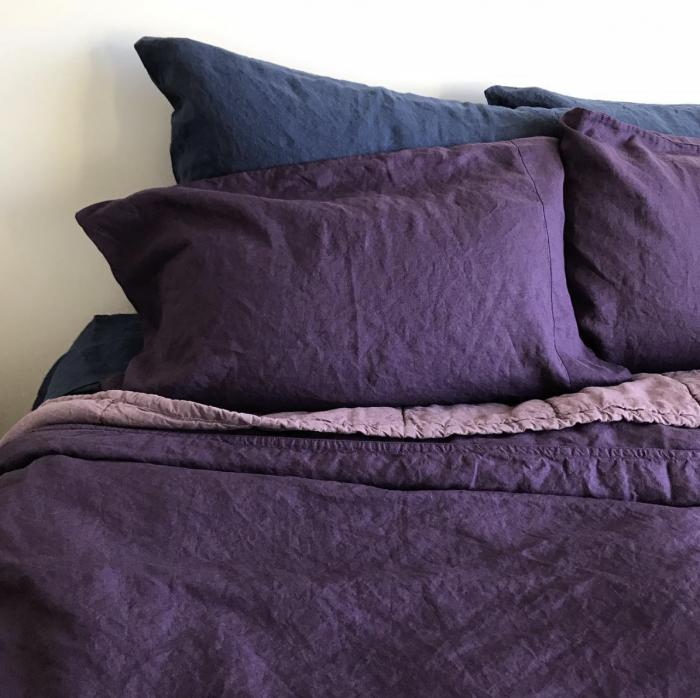 Purple Linoto Linen Bedding