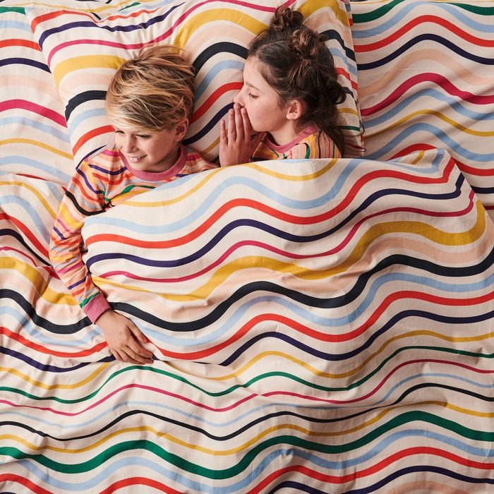 Rainbow Wave Kip and Co Kids Bedding