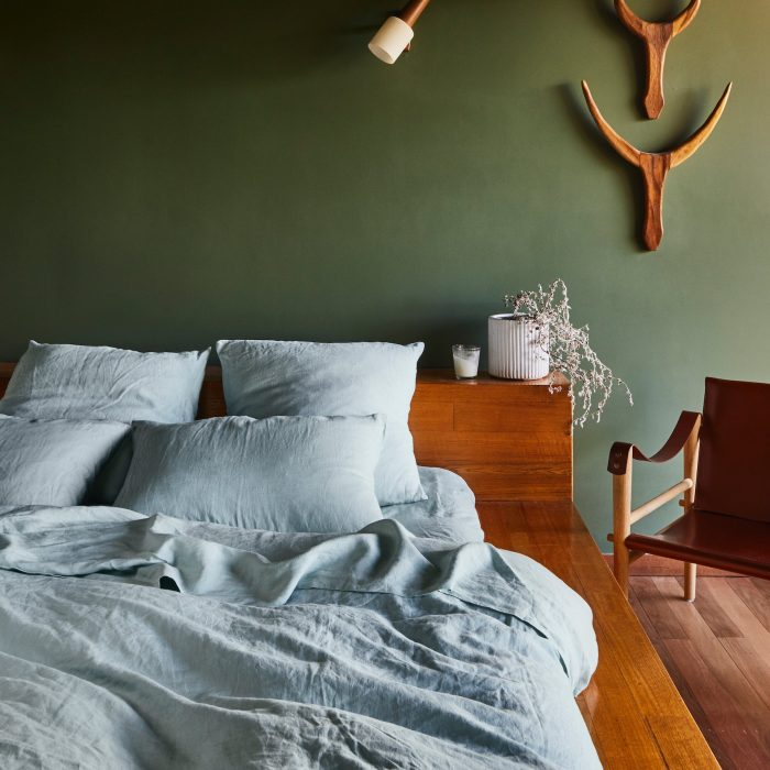 Sage and Clare Solid Linen Bedding