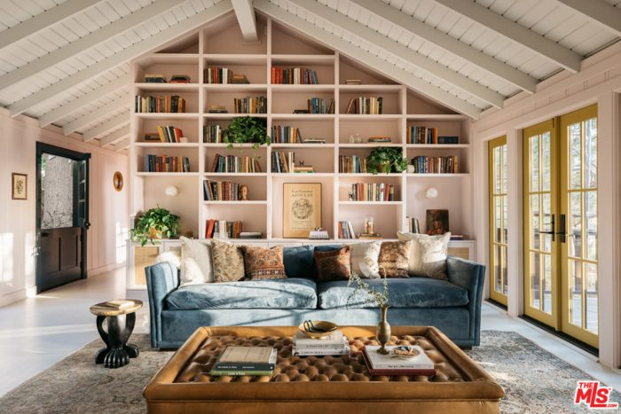 1940s Treehouse Los Angeles Built in Bookshelves