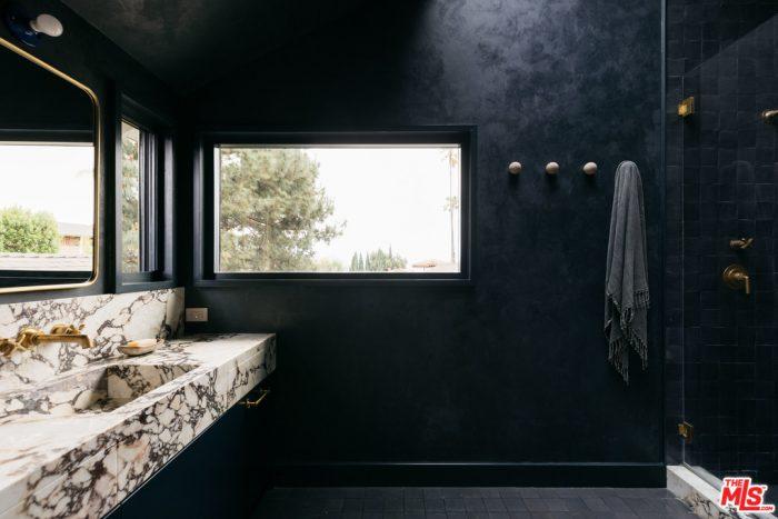 Black Bathroom 1940s Treehouse in Los Angeles