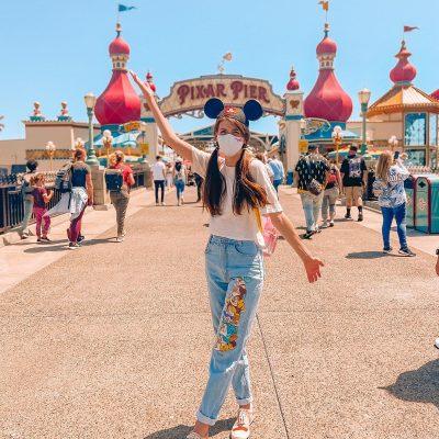 Bridge to Pixar Pier in Disney California Adventure