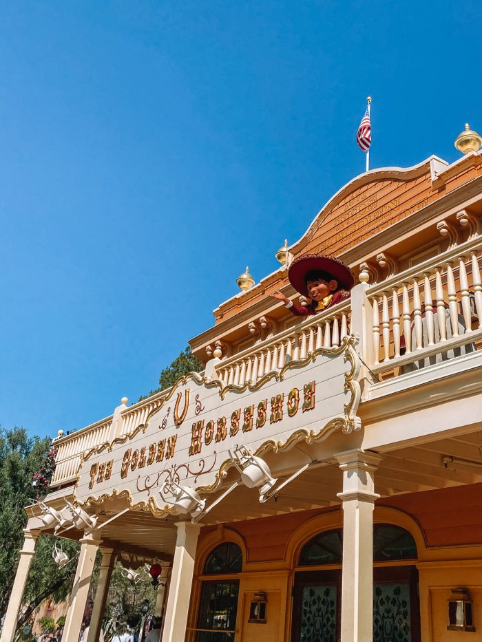 Miguel Character Greeting at The Golden Horseshoe Disneyland