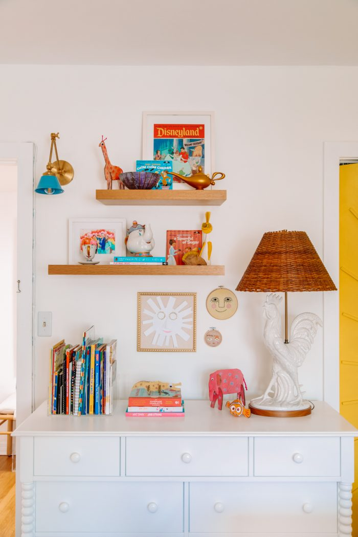 Storage in a home office and guest room