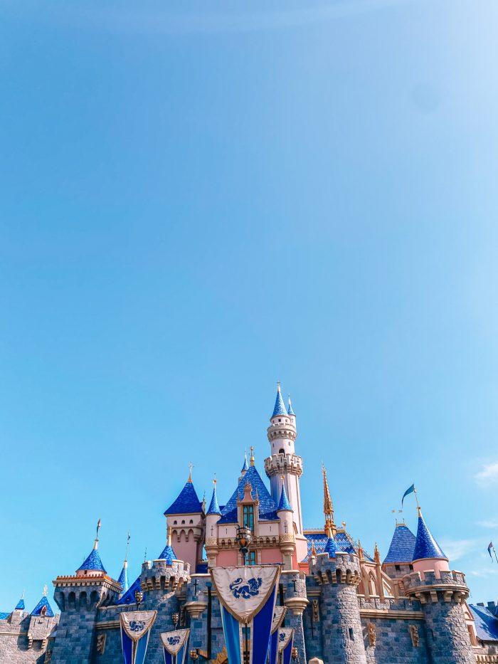 Front of Sleeping Beauty Castle at Disneyland