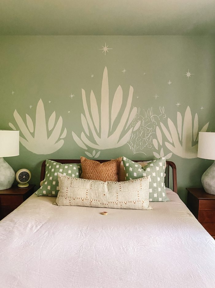 Green Bedroom at Oeste in Yucca Valley