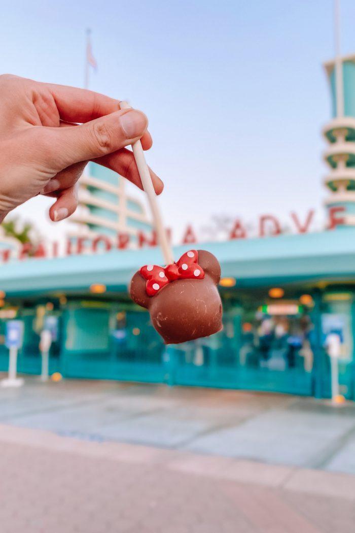 Minnie Cake Pop at Disney California Adventure
