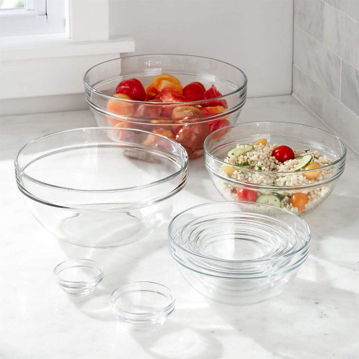 Set of Glass Nesting Bowls