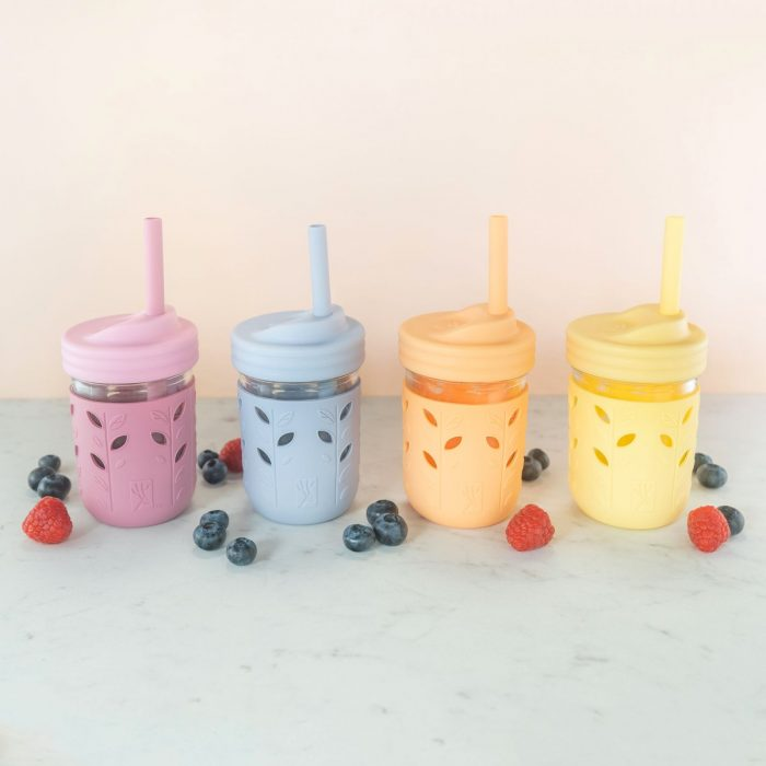 Silicone and Glass Kids Cups