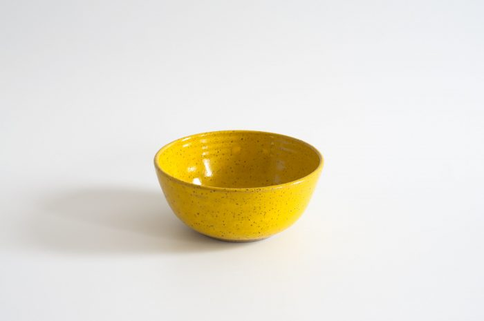 Yellow Speckled Cereal Bowl