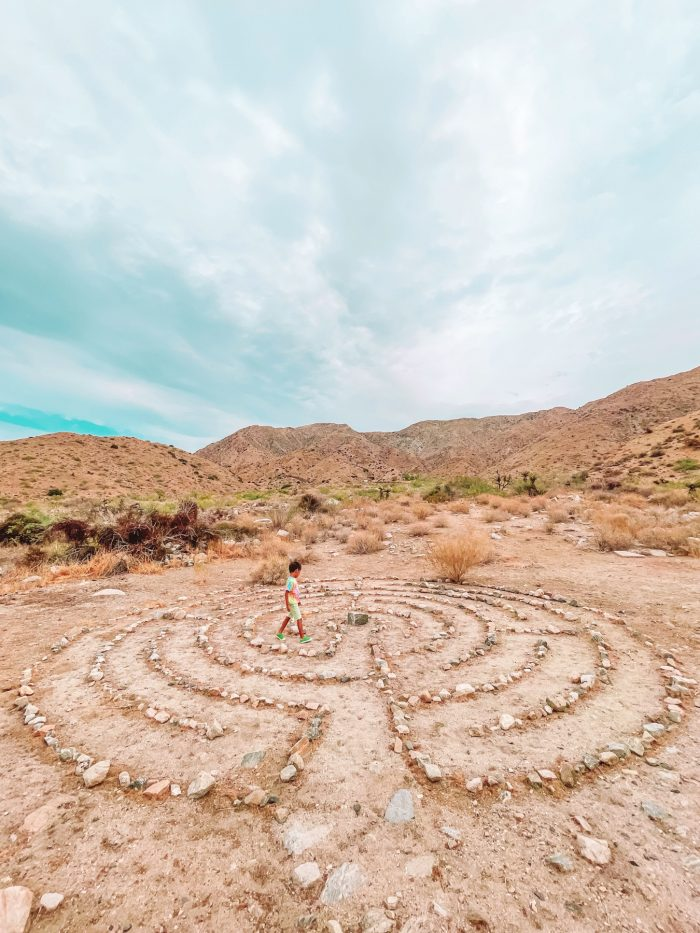 Meditation Labyrinth at Oeste in Yucca Valley