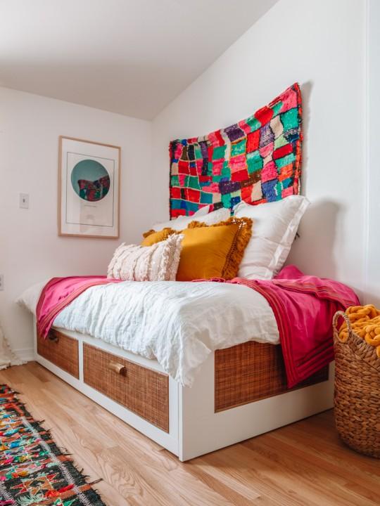 IKEA Bed Hack: Easy Rattan BRIMNES Makeover
