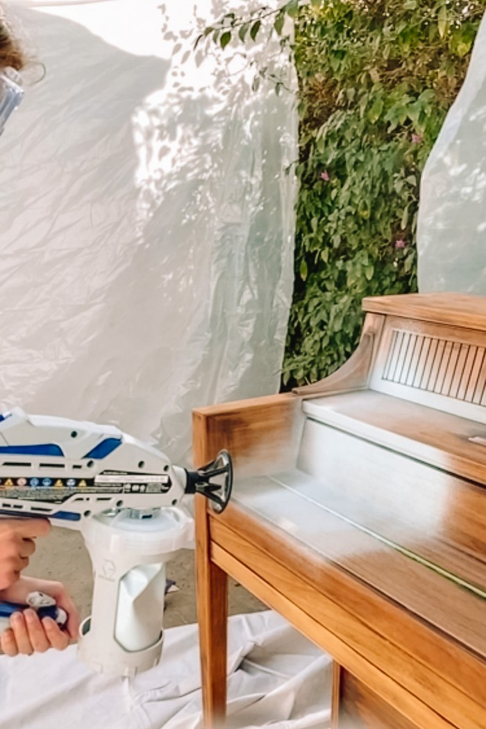 Painting Piano with Paint Sprayer