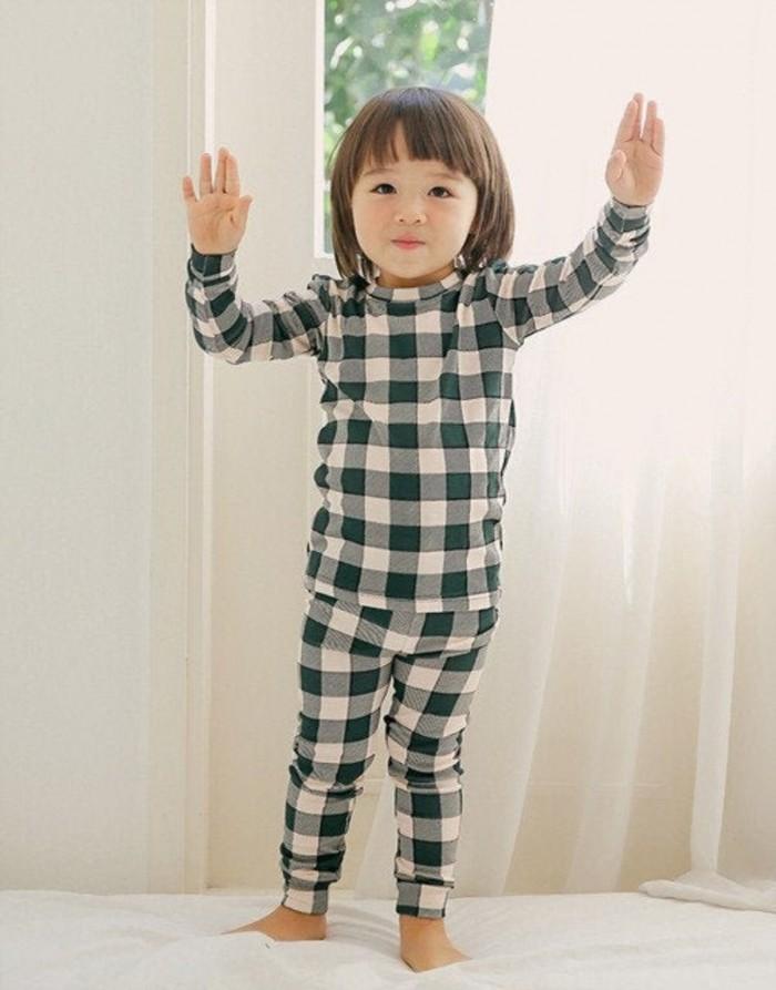black gingham pajamas