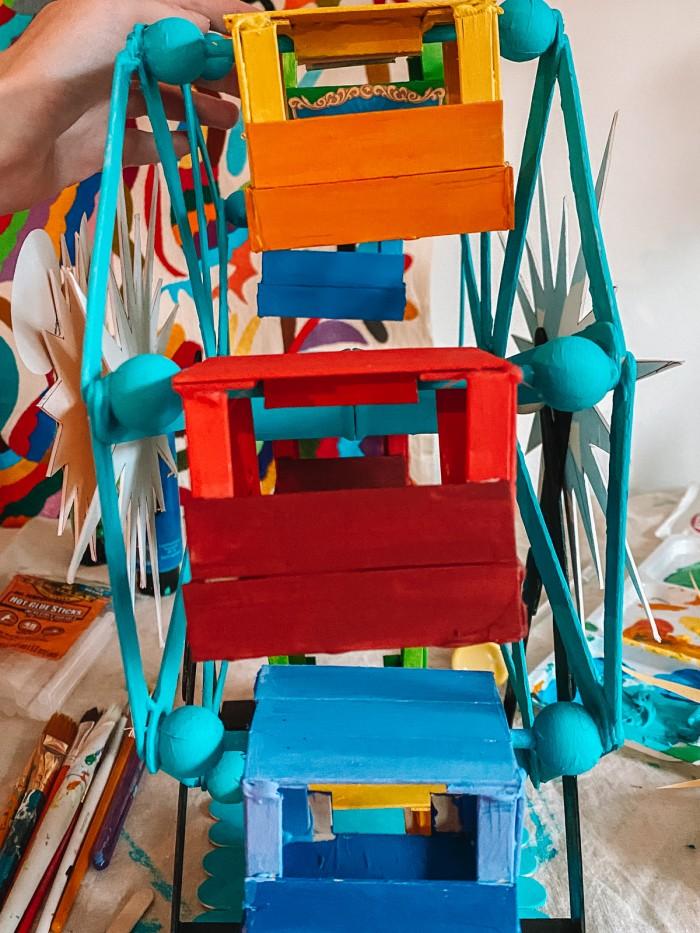 Painted Ferris wheel cars