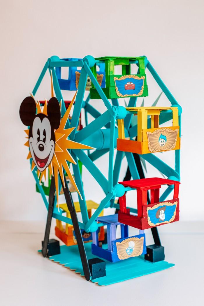 Popsicle stick Ferris wheel from Disney California Adventure