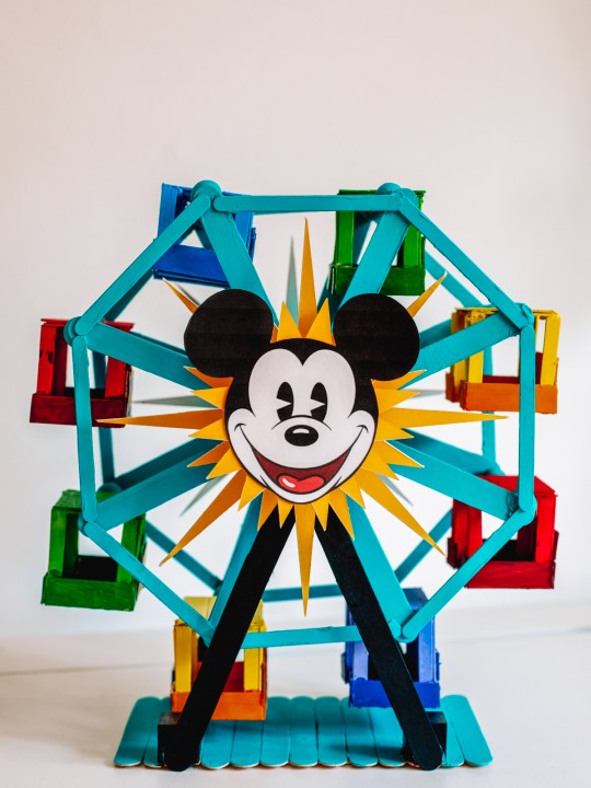 How To Make A Popsicle Stick Ferris Wheel (+ Pixar Pal-A-Round!)
